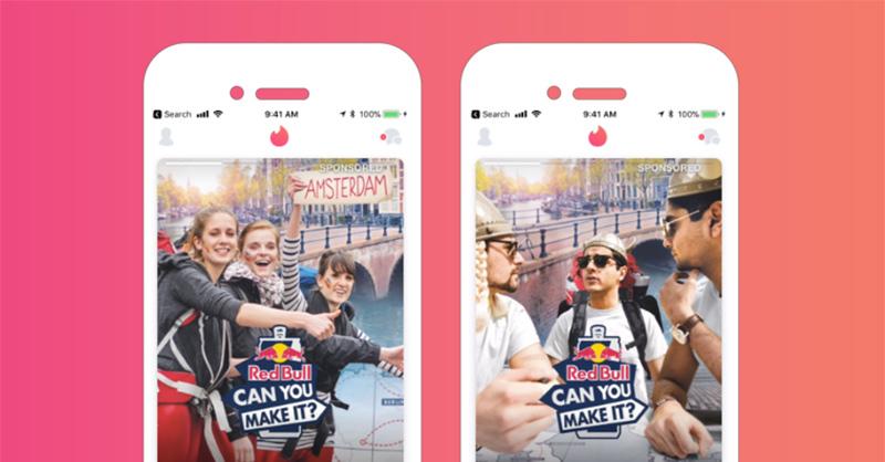Red Bull aposta em Tinder como plataforma de mídia