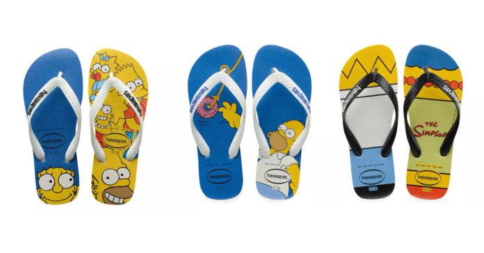 Havaianas Lança Nova Coleção De Chinelos Dos Simpsons Geek