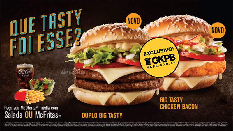 McDonald's anuncia Duplo Big Tasty e Big Tasty Chicken Bacon