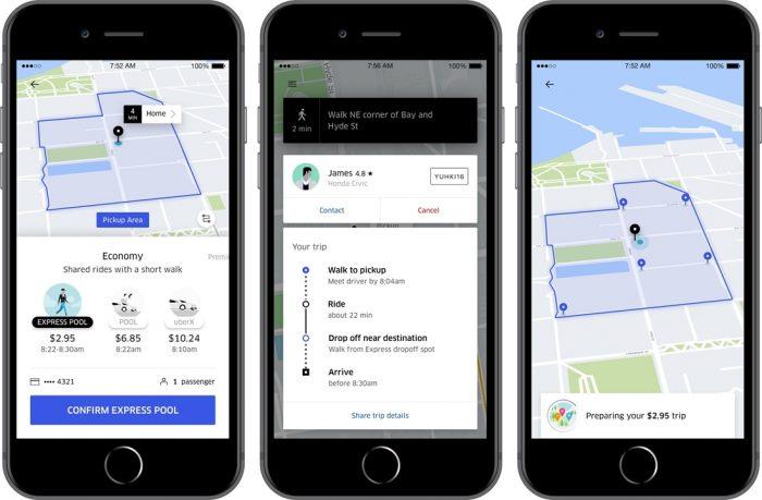 Uber Pool Express é a nova modalidade de viagens compartilhadas