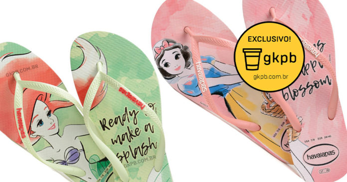 93883139d Havaianas lança coleção de sandálias inspiradas nas princesas Disney ...