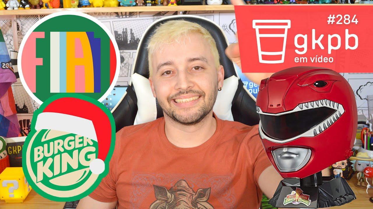 Imagem destaque mostrando Burger King antecipa Natal, Nova identidade Fiat e Capacete do Power Ranger