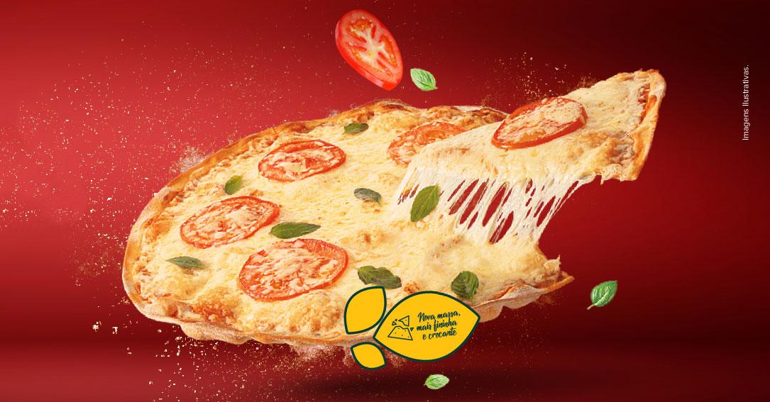 Nova pizza do habibs com massa crocante