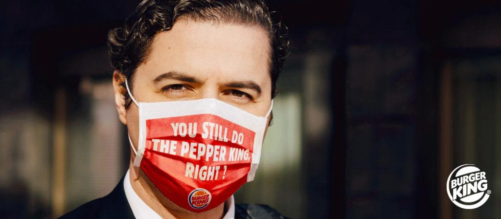 Burger King Bélgica distribuí máscaras de proteção com pedido favorito  estampado - Geek Publicitário
