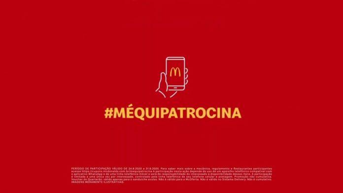 Imagem da promoção #MéquiPatrocina com logo do McDonald's