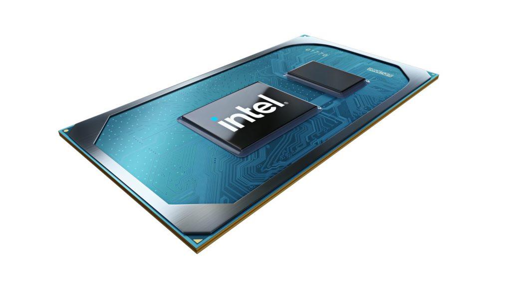 Novo logo Intel aplicado a chip processador.