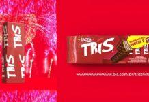 embalagem fictícia do novo chocolate tiis