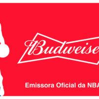 Banner do acordo da Budweiser ser a emissora NBA.