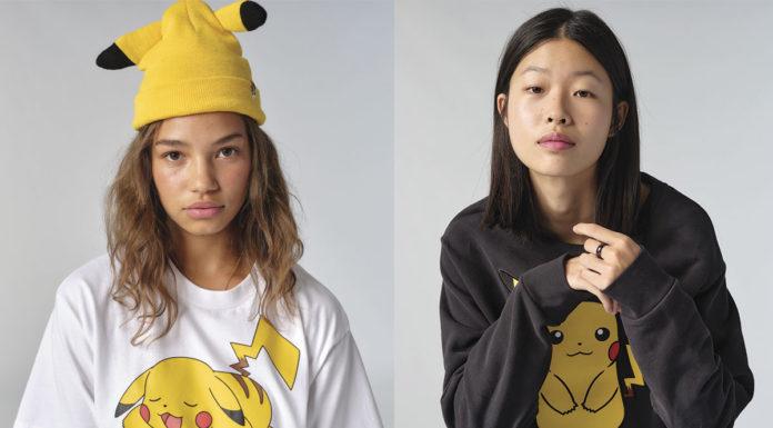 Duas meninas usando a coleção Levi's Pokémon