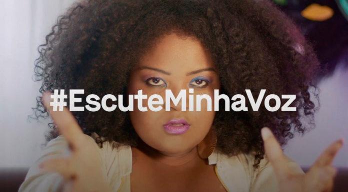 Joyce Carolina para a ação da Havaianas e Netflix, #EscuteMinhaVoz, que conecta personagens à mulheres reais.