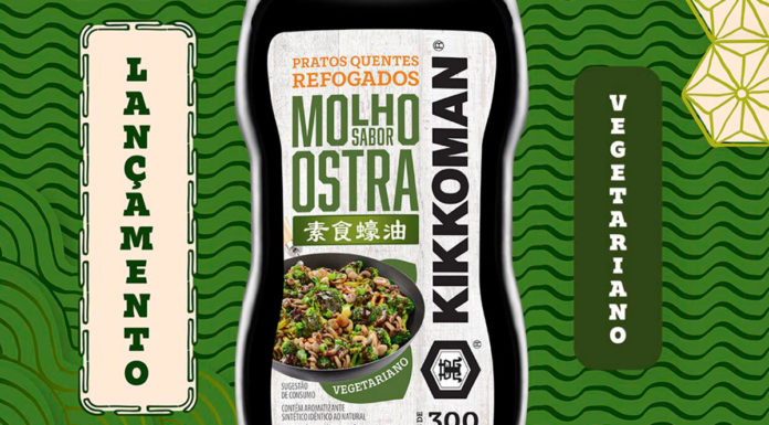 Banner do Molho Sabor Ostra Vegetariano da Kikkoman.