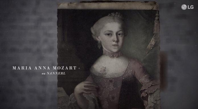 Campanha da LG sobre a Maria Anna Mozart.