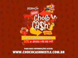 Banner de divulgação da promoção de cashback da Nestlé e Garoto.