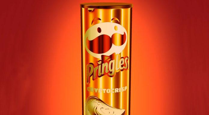 Pringles sabor CryptoCrisp, uma batata virtual.
