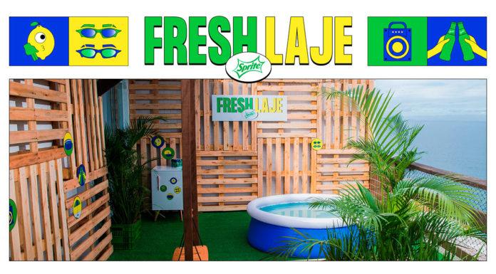 Banner do Fresh Laje, projeto de reforma da Sprite.