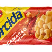 Salgadinho Torcida Camarão com Pimenta Malagueta.