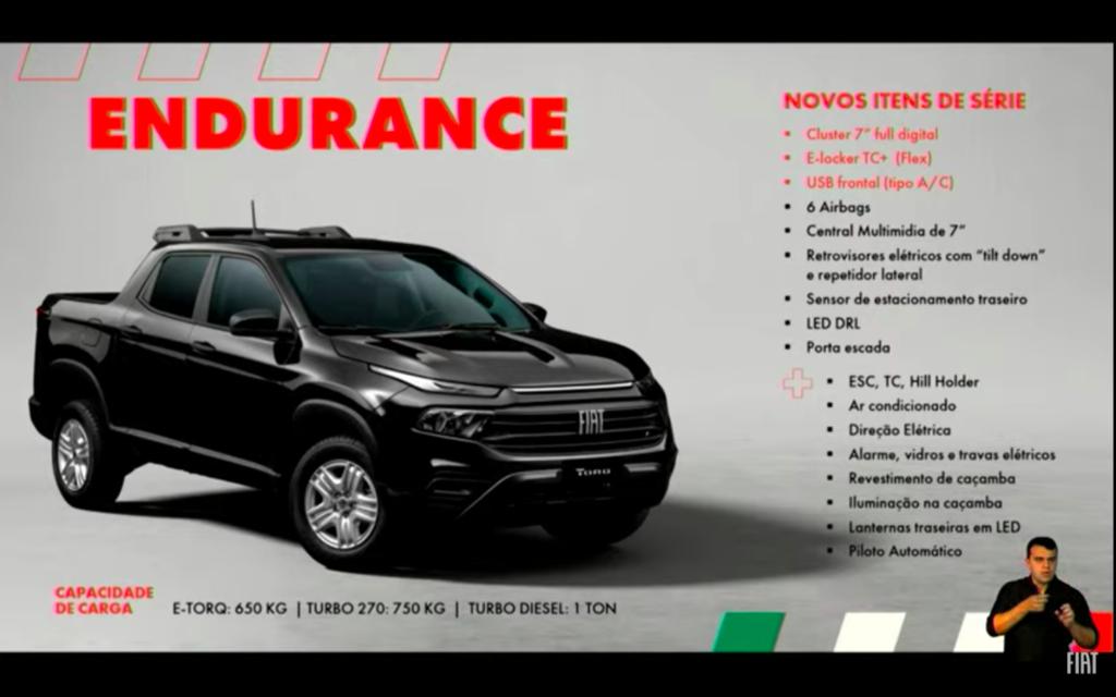 Material de lançamento da Nova Fiat Toro