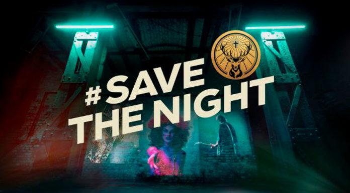 Banner da campanha #SaveTheNight da Jägermeister, que ajuda artistas na quarentena.