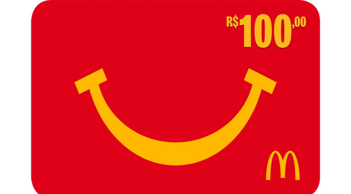 Gift Card de R$ 100 do McDonalds's.