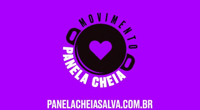 Banner com logo e site do Movimento Panela Cheia.