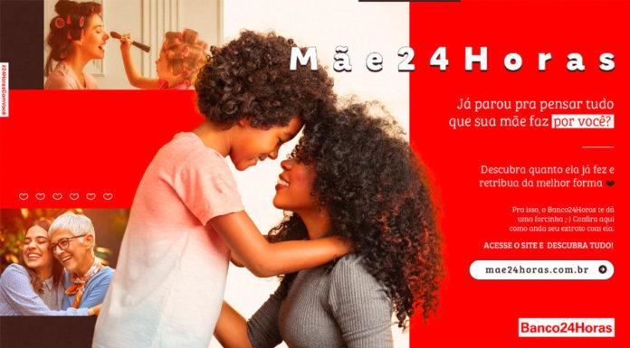 Banner da campanha de Dia das Mães do Banco24Horas.