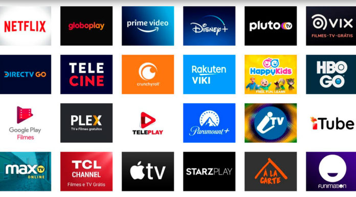 Catálogo da Roku do mercado de streaming no Brasil.