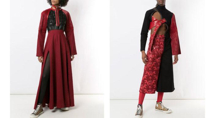 Foto de divulgação da coleção de roupas de Pantera Negra.