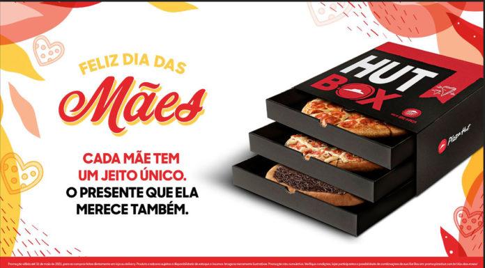 Foto de divulgação da Hut Box de Dia das Mães da Pizza Hut.