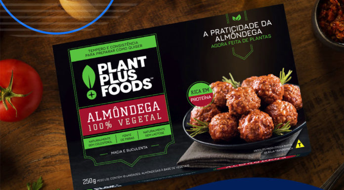 Almôndega da nova linha de produtos da PlantPlus Foods.