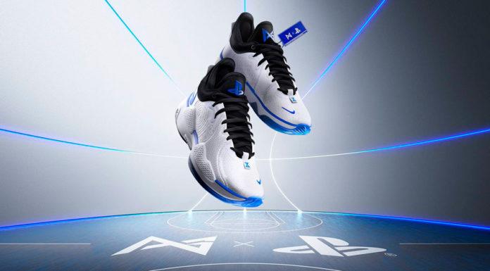 Foto de divulgação do novo tênis da PlayStation com a Nike.
