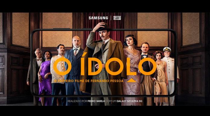 Foto de divulgação do filme O Ídolo, obra de Fernando Pessoa gravado com um Samsung Galaxy S21.