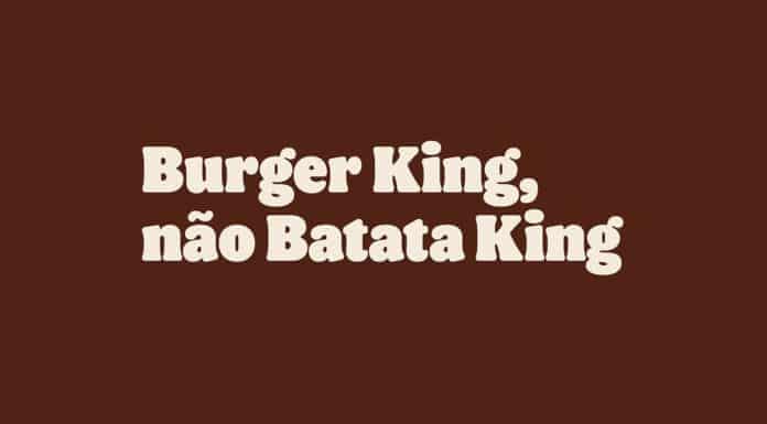 Provocação do Burger King sobre a batata do McDonald's.