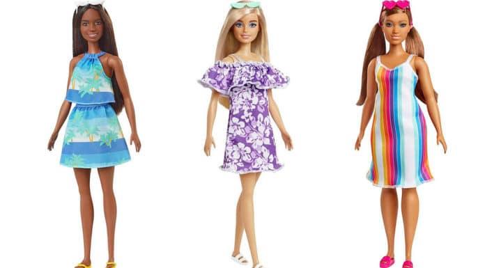 Coleção da Barbie feita de plástico reciclado da Mattel.