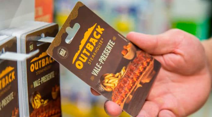 Gift card do Outback.