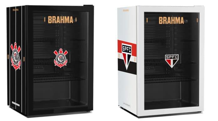 Produtos de times de futebol da Brahma.