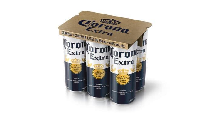 Cerveja Corona em lata.