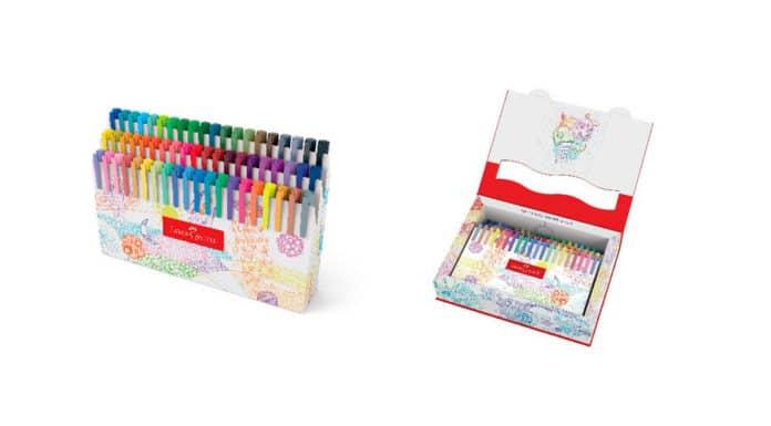 Estojo de canetas Fine Pen 60 cores da Faber-Castell.
