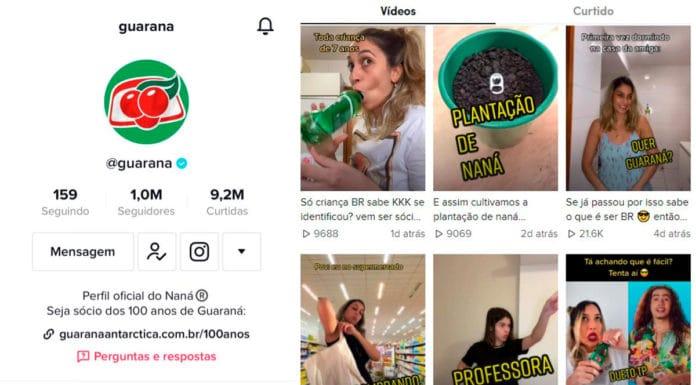Guaraná marca 1 milhão de seguidores no TikTok.