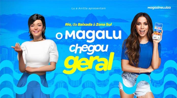 Lu e Anitta para a campanha do Magalu no Rio.