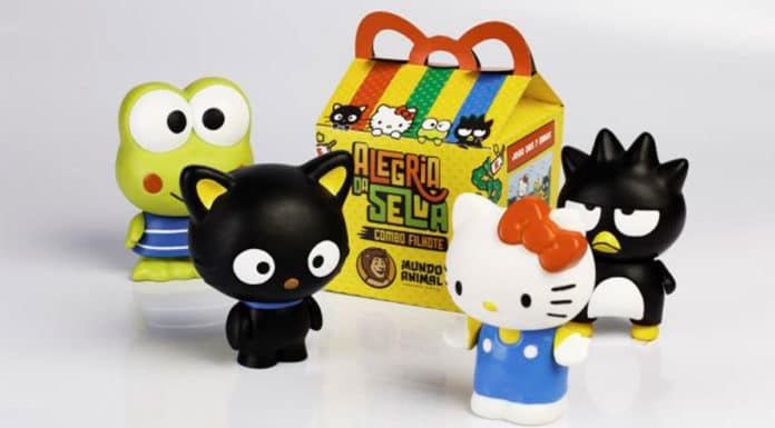 Brindes da Hello Kitty no Mundo Animal.