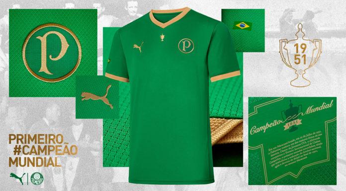 Camisa da Puma com o Palmeiras.