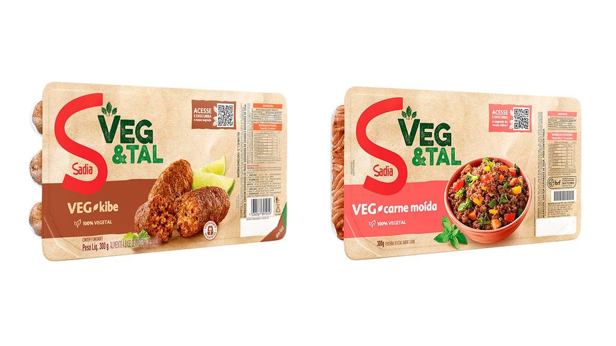 Sadia Veg&Tal Kibe e Carne Moída.
