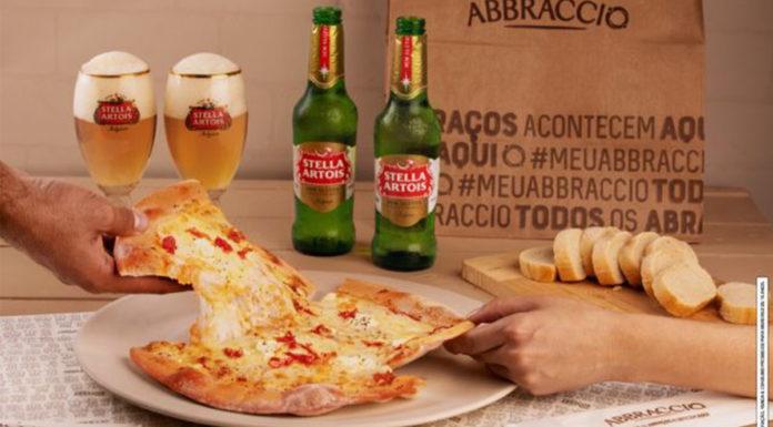 Pizzas do Abbraccio com Stella Artois.