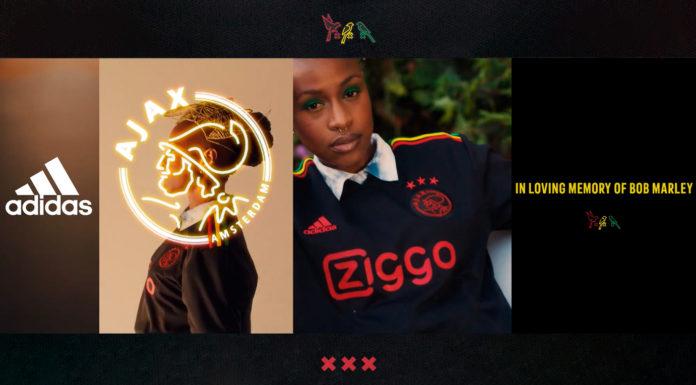 Camiseta AFC Ajax Adidas homenagem ao Bob MarleyB