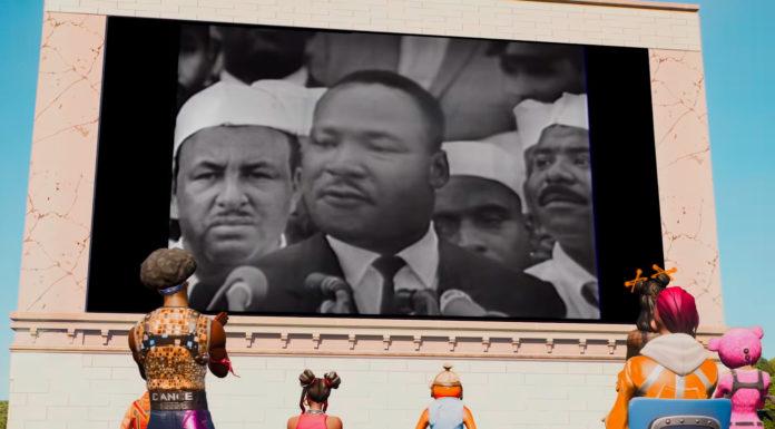 Homenagem a Martin Luther King de Fortnite