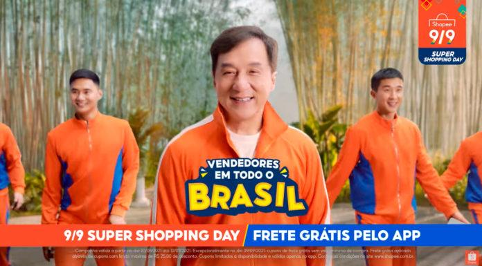 Jackie Chan na campanha 9/9 da Shopee