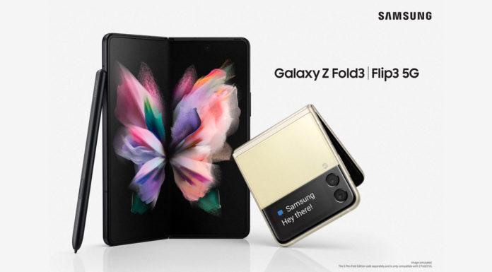 Celulares dobráveis Samsung