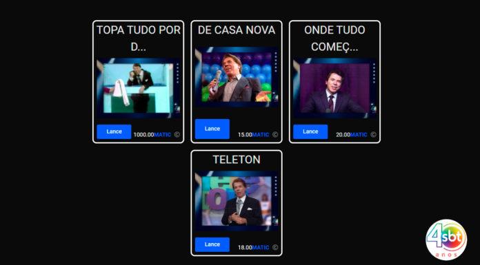 Quatro obras do Silvio Santos em NFT leiloadas pelo SBT