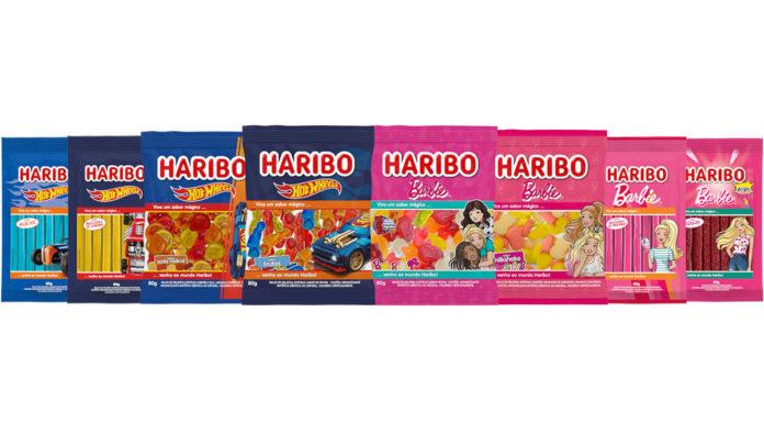 Linha da Barbie e Hot Wheels da Haribo.