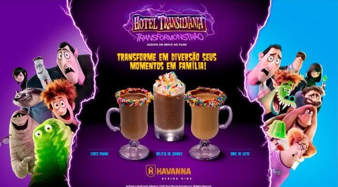 Cardápio de bebidas infantis da Havanna.